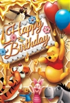 Disney Winnie the Pooh Honey Birthday 3D Lenticular Card