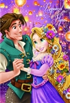Disney Princess Rapunzel and Flynn 3D Lenticular Card