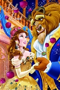 Disney Princess Belle and Beast 3D Lenticular Card