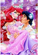 Disney Princess Ariel and Prince Eric 3D Lenticular Card