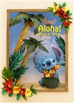 Stitch Aloha! 3D Lenticular Greeting Card