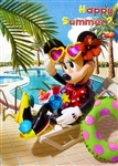 Disney Vacation Minnie 3D Lenticular Greeting Card