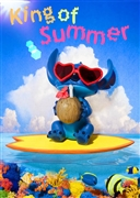 Disney Stitch King Of Summer 3D Lenticular Greeting Card