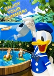 Disney Donald Duck Enjoy Your Summer 3D Lenticular Greeting Card