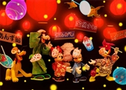 Disney Mickey and Friends Japanese Summer Festival 3D Lenticular Card