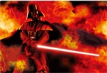 STAR WARS Darth Vader on Fire 3D Lenticular Card