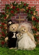 Wedding Teddy Bears 3D Lenticular Greeting Card
