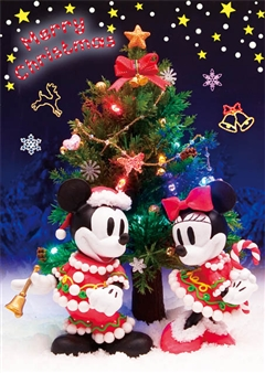 Disney Sparkle Christmas 3D Lenticular Greeting Card