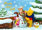 Disney Happy Snow Day 3D Lenticular Greeting Card