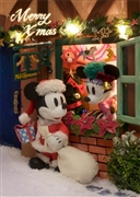 Disney Home Christmas Mickey & Minnie 3D Lenticular Greeting Card