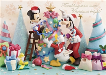Disney Mickey and Friends Christmas Party 3D Lenticular Greeting Card