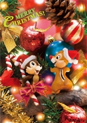 Disney Chip and Dale Christmas 3D Lenticular Greeting Card
