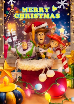 Disney Pixar Toy Story Christmas 3D Lenticular Greeting Card
