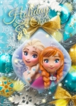 Disney Frozen Anna and Elsa Christmas Ornament 3D Lenticular Greeting Card