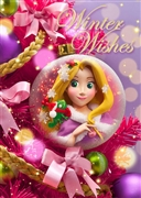 Disney Rapunzel Christmas Ornament 3D Lenticular Greeting Card