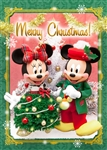 Disney Mickey and Minnie Christmas Dress Up 3D Lenticular Card