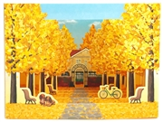 Autumn Foliage Diorama Pop Up Greeting Card