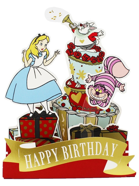 Disney Alice In Wonderland Pop Up Birthday Card Premium Greeting