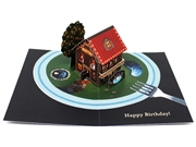 Miniature World Birthday Bistro Party Pop Up Decorative Card