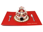 Wishing You A Happy Birthday Cake 3D Pop Up Greeting Card