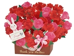 Blooming Basket w/ Rabbit Thank You Mother Pop Up Greeting Card