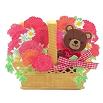 Sweet Tranquility Basket - Thank You - Pop Up Greeting Card