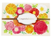 Flower Wreath - Congratulations - Greeting Card