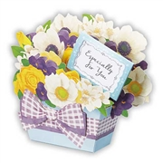 Precious Jasmine Scented Bouquet Gift Basket Pop Up Greeting Card
