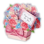 Lavender Scented Good Luck Floral Gift Basket Pop Up Greeting Card