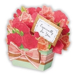 Rose Scented Bouquet Gift Basket Pop Up Greeting Card