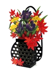 Flower in Vase - Autumn colors - Pop Up Greeting Card