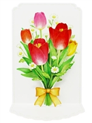 Tulips Bouquet For You Pop Up 3D Greeting Card