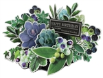 Succulent Green Botanical Garden Pop Up Happy Birthday Card