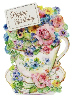 Royal Teacup Pop Up Birthday Greeting Card