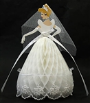 Disney Princess Cinderella Honeycomb w/Lace Pop Up Greeting Card