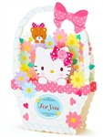 Hello Kitty Gift Basket Pop Up Greeting Card