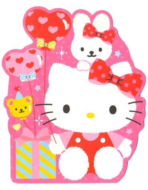 Hello Kitty And Cathy Happy Birthday Pop Up Greeting Card Birthday