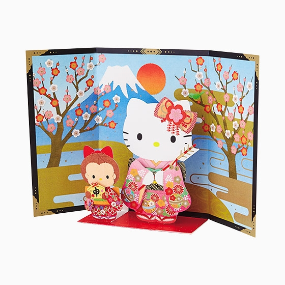 Hello kitty year of the monkey pop up 3d greeting card premium hello kitty year of the monkey pop up 3d greeting card m4hsunfo