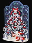 Hello Kitty Laser Cut Christmas Tree Pop Up Greeting Card