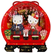 Hello Kitty Girls Day Cherry Blossom Pop Up Decorative Greeting Card