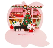 Hello Kitty Yummy Apple Christmas Pop Up Greeting Card