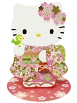 Hello Kitty Cherry Blossom Kimono Pop Up 3D Greeting Card