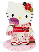 Hello Kitty Summer Kimono Pop Up 3D Greeting Card