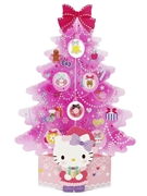 Hello Kitty 3D Miniature Pink Christmas Tree Pop Up Card