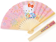 Hello Kitty Traditional Folding Bamboo Paper Fan