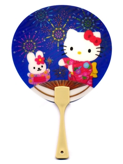 Hello Kitty and Cathy Mini Animated 3D Hand Fan