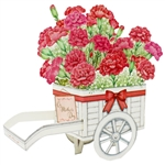 Carnation Wagon Bouquet Pop Up Mother's Day Card