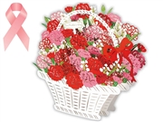 Adorable Laser Cut Carnations Basket Pop Up Mother's Day Card