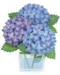Luxuriant Hydrangea Pop Up Decorative Greeting Card