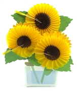 Sunflower Honeycomb Pop Up Decorative Greeting Card